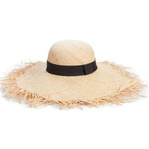 NWT BP Raw Edge Floppy Straw Summer Hat